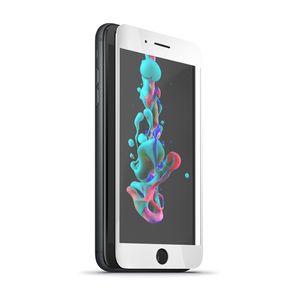 Forever 5D Iskunkestävä Panssarilasi iPhone 7 / 8, valkoinen