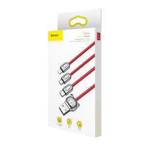 Baseus kolme porsasta multikaapeli Lightning / Micro USB / Type-C