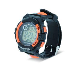 Forever DW-100 Digitaalinen rannekello, musta/oranssi