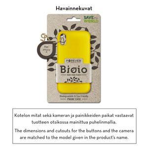 Forever Bioio 100% biohajoava suojakotelo iPhone Xs Max - keltainen