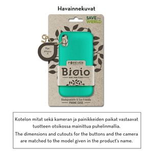 Forever Bioio 100% biohajoava suojakotelo iPhone X / iPhone Xs - mintunvihreä