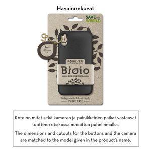 Forever Bioio 100% biohajoava suojakotelo iPhone X / iPhone Xs - musta