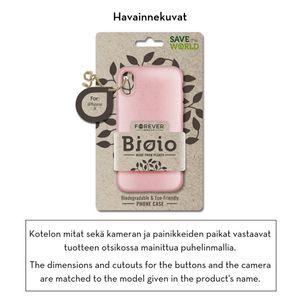 Forever Bioio 100% biohajoava suojakotelo iPhone Xs Max - pinkki