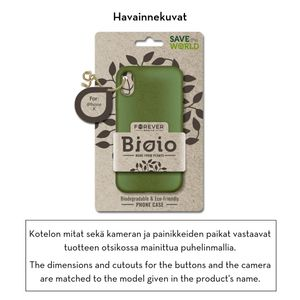 Forever Bioio 100% biohajoava suojakotelo iPhone X / iPhone Xs - vihreä
