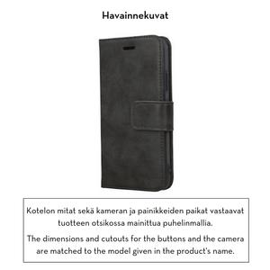 Forever Classic lompakkomallinen suojakotelo iPhone XR aitoa nahkaa - musta