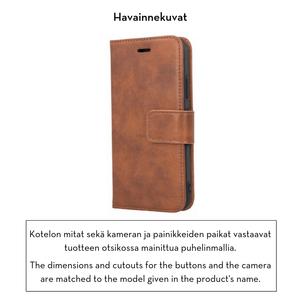 Forever Classic lompakkomallinen suojakotelo iPhone 7 / 8 / SE 2 aitoa nahkaa - Ruskea