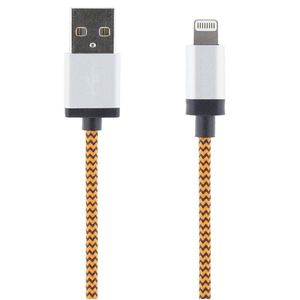 STREETZ USB-synk-/lalatauskaapeli iPod, iPhone, iPad, MFI, 1m, oranssi