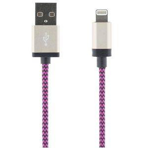 STREETZ USB-synk-/lalatauskaapeli iPod, iPhone, iPad, MFI, 2m, lila