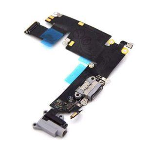 iPhone 6 Plus Latausportti / Kuulokeportti / Mikrofoni - Harmaa (Alkuperäinen - Pulled)