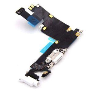 iPhone 6 Plus Latausportti / Kuulokeportti / Mikrofoni - Valkoinen (Alkuperäinen - Pulled)