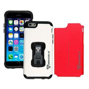 Armor-X CX Rugged iPhone 6 Kotelo, Valkoinen & Punainen