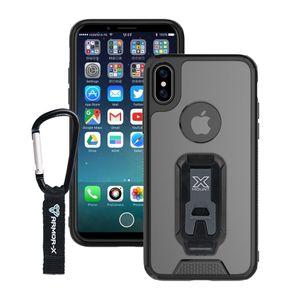 Armor-X BX1 Iskunkestävä X-Mount Suojakotelo iPhone X - läpinäkyvä / musta