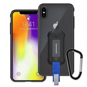Armor-X BX3 Iskunkestävä Suojakotelo iPhone XS MAX läpinäkyvä / musta