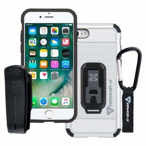 Armor-X CX Rugged Iskunkestävä iPhone 7 Kotelo - Musta / Valkoinen