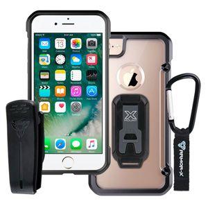 Armor-X CX Rugged Iskunkestävä iPhone 7 Plus - Musta / Läpinäkyvä