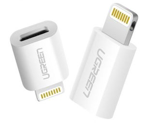 Ugreen Lightning - Micro-USB, valkoinen