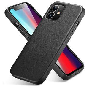 ESR Metro Premium Nahkakuori iPhone 12 / 12 Pro - Aito musta nahka