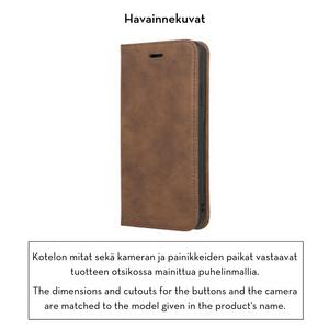 Forever Gamma lompakkomallinen suojakotelo aitoa nahkaa irrotettavalla sisäkotelolla iPhone XR - ruskea