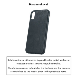 Forever Prime suojakotelo iPhone 7 / 8 / SE 2 aitoa nahkaa - musta