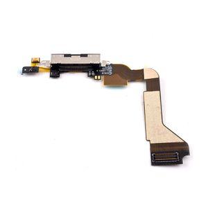 iPhone 4S Latausportti flex-kaapeli + mikrofoni - Musta