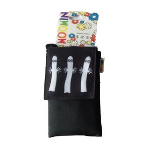 Muumi-suojapussi Hattivatit, yleiskäyttöinen suojapussi puhelimelle - musta