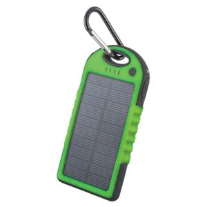 Forever STB-200 Aurinkokenno Power Bank vara-akku taskulampulla - 5000 mAh - Vihreä