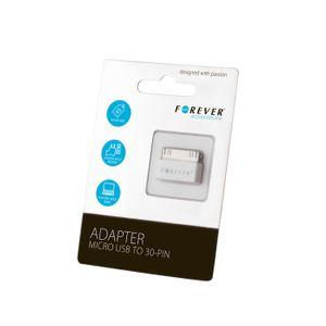 Forever adapteri micro USB liitännästä 30-PIN Dock liittimeen (iPhone 3/4)