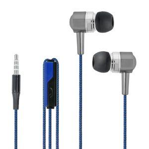 Forever SE-120 Nappikuulokkeet Mikrofonilla - Sininen / Musta