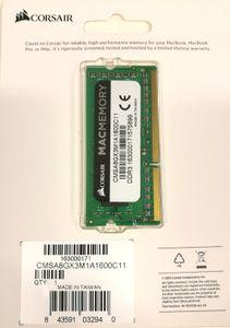 CORSAIR DDR3 1600MHz 8GB 1x8gb SODIMM Apple Qualified