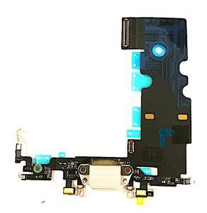 iPhone 8 Plus Latausportti flex-kaapeli + kuulokeliitäntä + mikrofoni - Harmaa