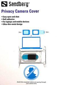 Sandberg Privacy-suoja kannettavan tietokoneen kameralle - Musta
