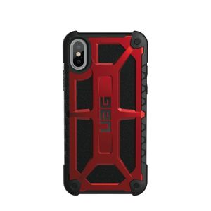 UAG Urban Armor Gear Monarch Premium kestävä suojakotelo iPhone X / Xs - Punainen / musta