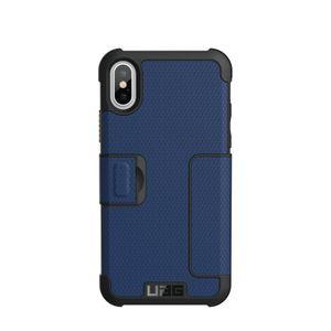 UAG Urban Armor Gear Metropolis Flip Case suojakotelo iPhone X - Sinimusta