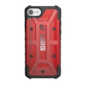 UAG Urban Armor Gear Plasma kestävä suojakotelo iPhone 8 / 7 / 6S / 6 - Musta / läpinäkyvä punainen