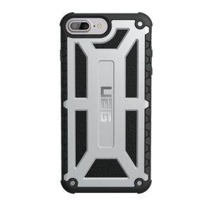 UAG Monarch kestävä suojakotelo iPhone 8 Plus / 7 Plus / 6 Plus / 6S Plus - Platinum Musta