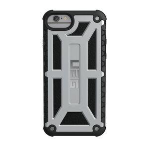 UAG Urban Armor Gear Monarch Premium kestävä suojakotelo iPhone 8 / 7 / 6 / 6S - Platinum Black