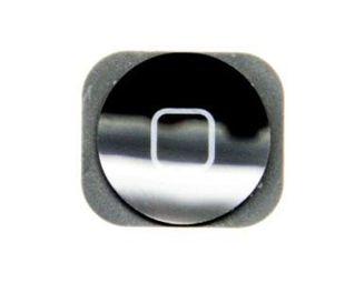 iPhone 5 / 5C Home-nappi+kumitarra - Musta