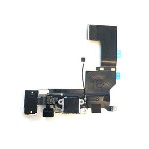 iPhone SE Latausportti flex-kaapeli + kuulokeliitäntä + mikrofoni - Valkoinen