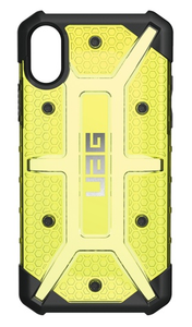 UAG Urban Armor Gear Plasma kestävä suojakotelo iPhone X - Keltainen / musta