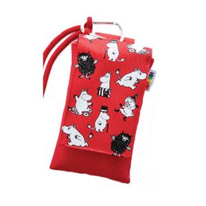 Muumi-suojapussi Muumiperhe, yleiskäyttöinen suojapussi puhelimelle - punainen