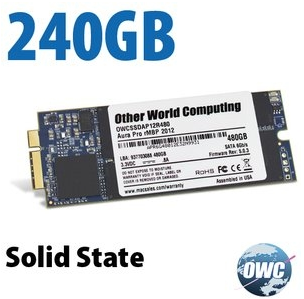 OWC Aura 6G SSD 250GB Macbook Pro Retina 2012 / Early 2013