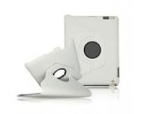 Apple iPad 2-4 keinonahkainen, 360-pyörivä suojakuori - valkoinen