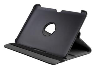 Apple iPad 2 / 3 / 4 keinonahkainen, 360 pyörivä suojakuori - Musta