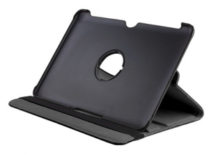 Apple iPad Mini 1-3 keinonahkainen, 360-pyörivä suojakuori - musta
