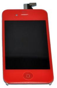 iPhone 4S LCD-näyttö + kosketuspaneeli - Punainen