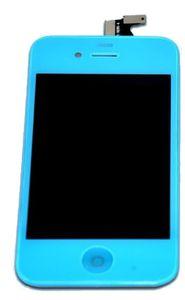 iPhone 4 LCD-näyttö + kosketuspaneeli - Vaaleansininen