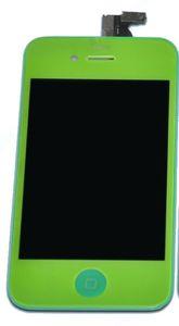 iPhone 4 LCD-näyttö + kosketuspaneeli - Vihreä