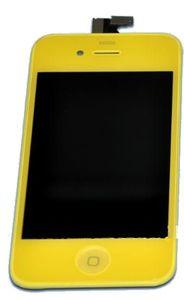 iPhone 4 LCD-näyttö + kosketuspaneeli - Keltainen