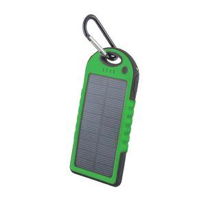 Setty Aurinkokenno Power Bank vara-akku taskulampulla - 5000 mAh - Vihreä