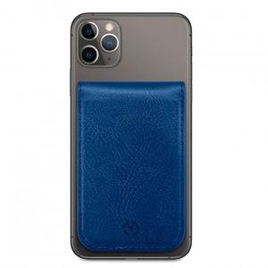Celly Duomo magneettinen korttipidike puhelimen takakanteen - Sininen